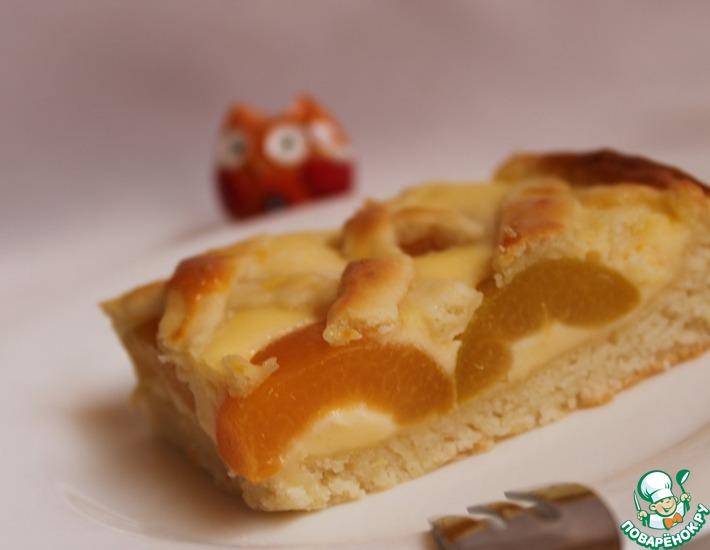 Рецепт: Абрикосовый пирог из творожного теста