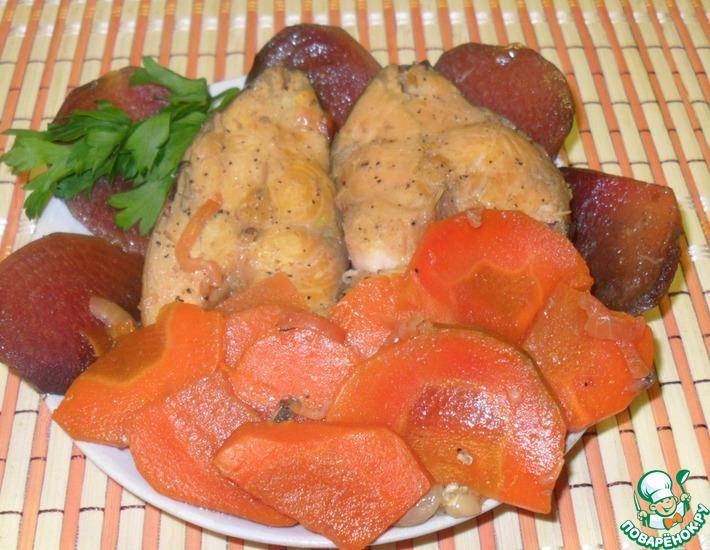 Рецепт: Карп с овощами