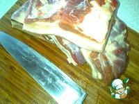 Сало с мясной прослойкой в луковой шелухе ингредиенты