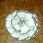 Сало с мясной прослойкой в луковой шелухе