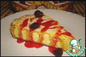 Рецепт Блинный пирог с творогом