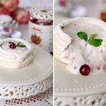 Десерт Павлова с творожно-клюквенным кремом