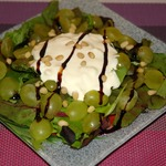 Салат из печеной свеклы, нектаринов и киноа , пошаговый рецепт с фото