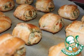 Рецепт: Картофельно-сметанные булочки с зеленью