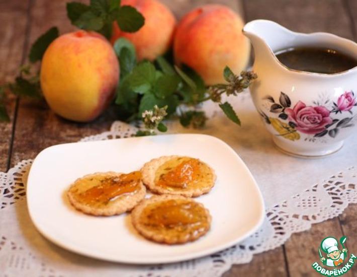 Рецепт: Варенье из персиков с мелиссой