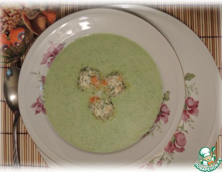 Рецепт: Суп-пюре из брокколи с ореховым маслом