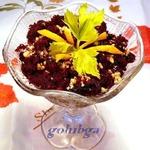 Универсальный салат из свеклы с орехами