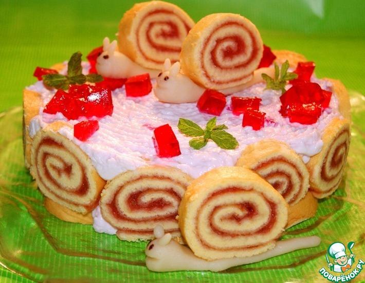 Рецепт: Торт Улитка