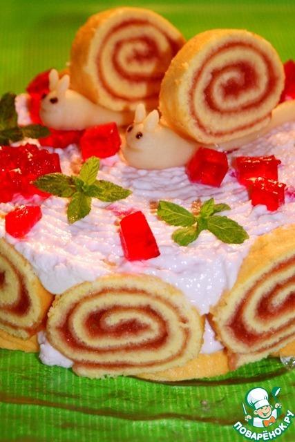 """Торт """"Шоколадная улитка"""" – кулинарный рецепт"""