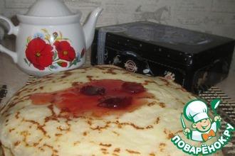 Рецепт: Тонкие блины на кефире