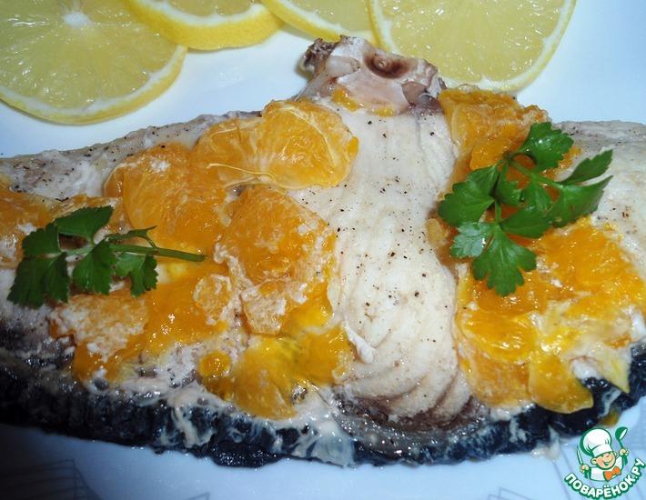 Рецепт: Акула под мандаринами