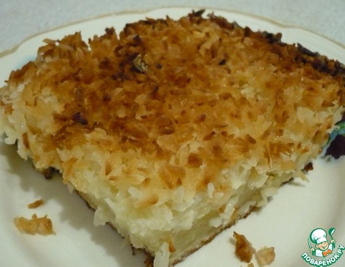 Рецепт: Изумительный кокосовый пирог