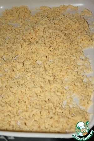 Подсушить тесто в нагретой до 170град. духовке 20 минут, периодически    перемешивая.