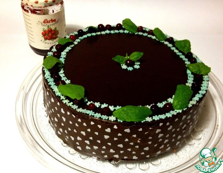 """Торт """"Клюквенный соблазн"""""""