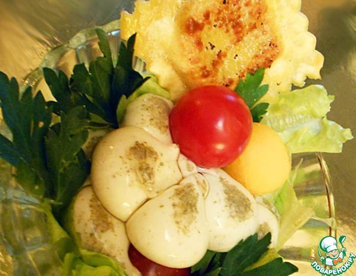 Рецепт: Салат с тыквой и равиоли
