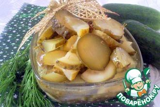 Рецепт: Салат Огурцы с укропом (на зиму)