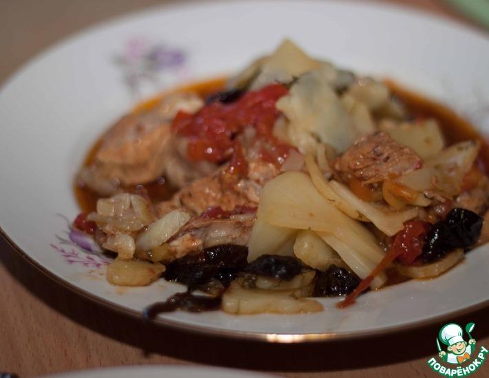 Рецепт: Вок, мясо и овощи