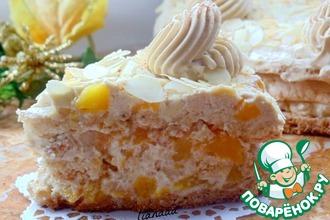 Рецепт: Кофейный торт с персиками и миндалем