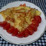 Цветная капуста под яйцом и сыром