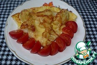 Рецепт: Цветная капуста под яйцом и сыром