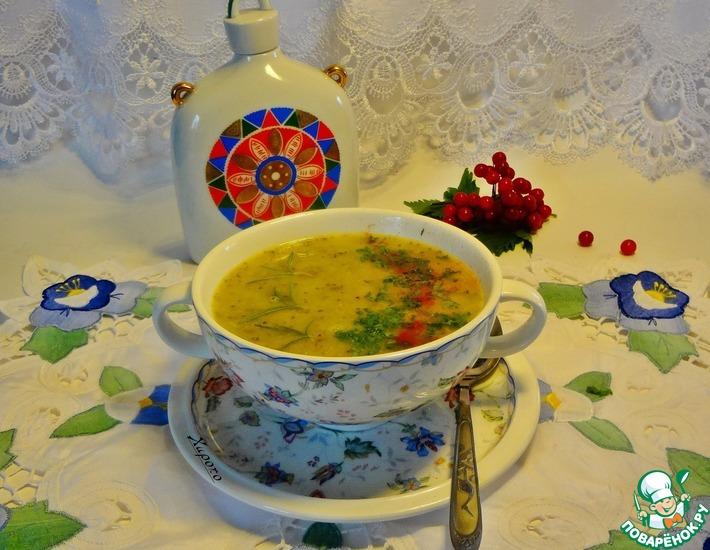 Рецепт: Суп из брокколи с грушей