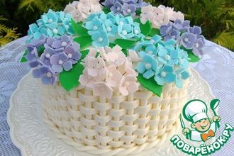 Рецепт: Торт Корзина с цветами