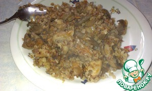 """Каша """"Геркулес"""" с томлеными яблоками – кулинарный рецепт"""