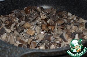 Перловка с вешенками под шпинатным соусом – кулинарный рецепт