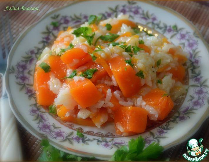 Рецепт: Тыква, тушенная с рисом