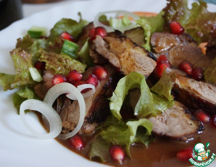 Рецепт: Утка-гриль в клюквенном маринаде