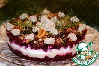 Рецепт: Закусочный торт Свеколка