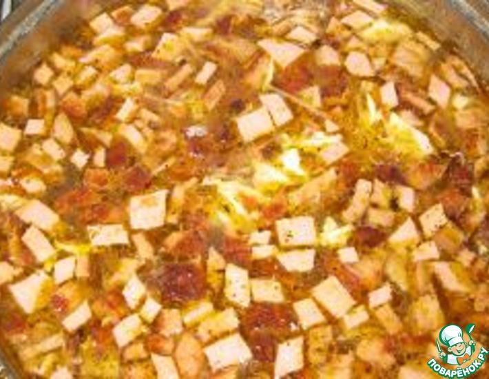 Рецепт: Колбасный суп