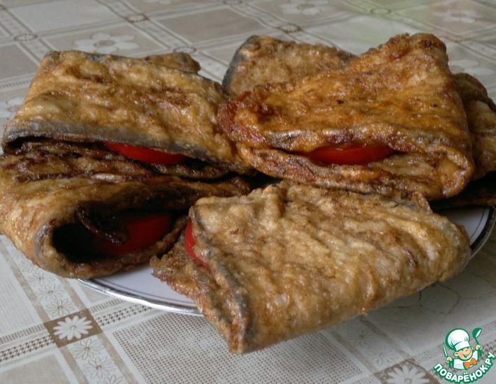 Рецепт: Баклажаны с помидорами и чесноком