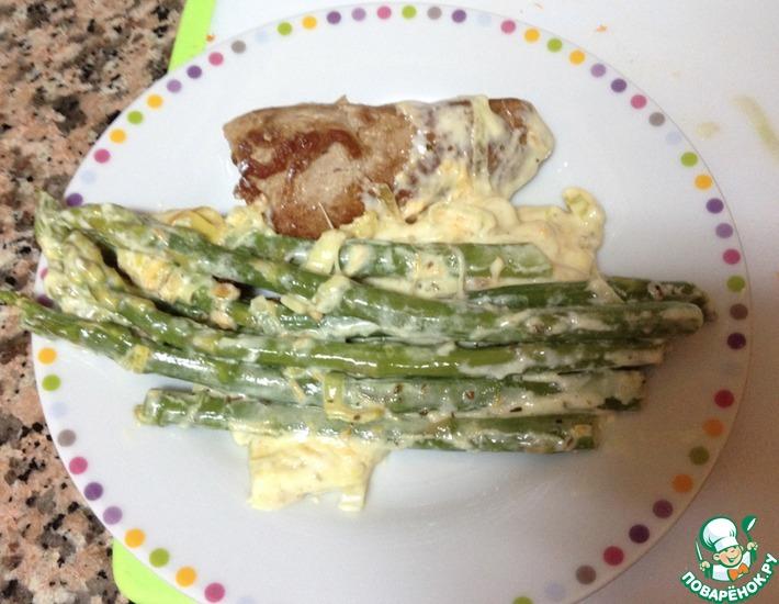 Рецепт: Спаржа со сливочным соусом