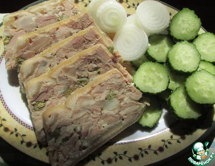 Рецепт: Ветчина из свиной рульки