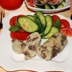Куриные колбаски с сердечками и сыром