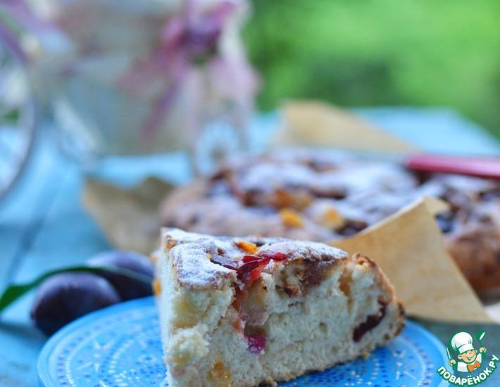 Рецепт: Простой и быстрый пирог со сливами