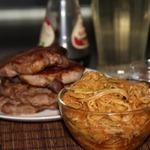 Кабачки маринованные Спагетти