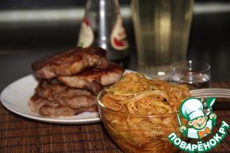 Рецепт: Кабачки маринованные Спагетти