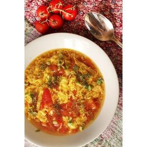 Китайский суп из помидоров