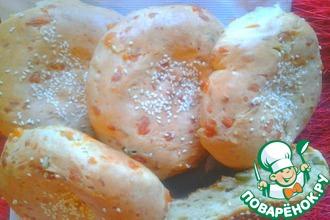 Рецепт: Лепешки с сыром и семечками