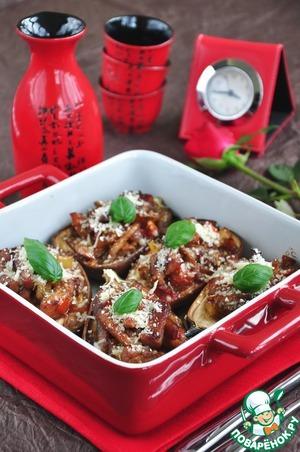 Рецепт Баклажаны запеченные с мясом и овощами