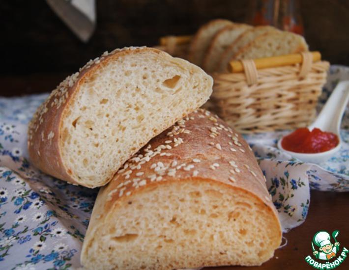 Рецепт: Пикантный хлеб с чёрным перцем и сыром