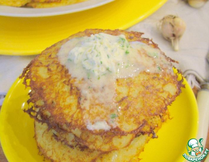 Рецепт: Картофельно-кабачковые оладьи