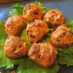 Кабачковые кексы с грибами