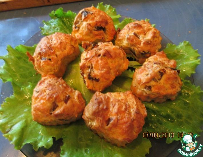 Рецепт: Кабачковые кексы с грибами