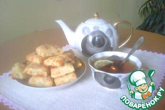 Рецепт: Слоеное сырное печенье Чистюля