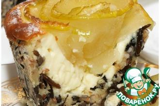 Рецепт: Медовые яблочки в рисовой корзиночке