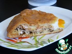 Рецепт А-ля курник или пирог с диким рисом и белым мясом