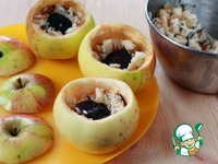 Запеченные яблоки, фаршированные рисом ингредиенты